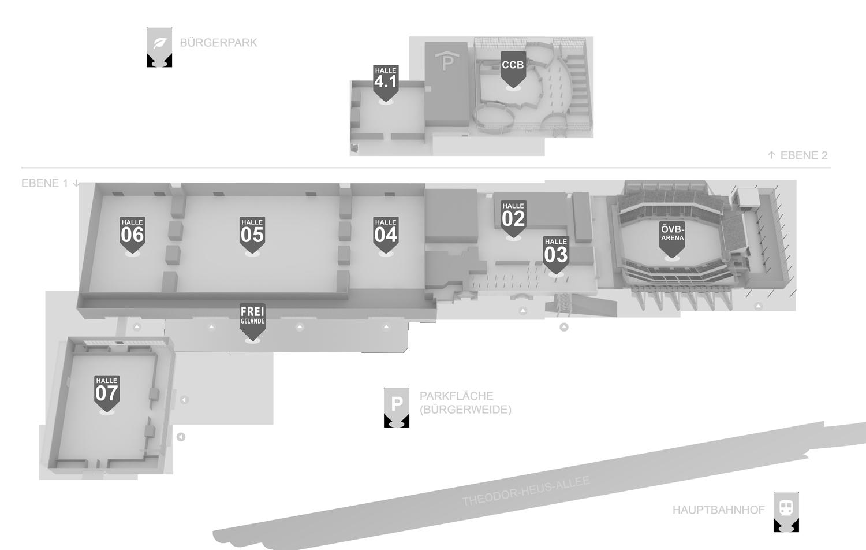 Hallenplan Aussteller/Besucher